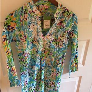 NWT Saratoga Tunic top shirt coverup Sea Soirée XS